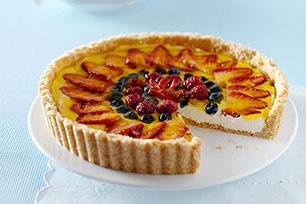 Cheesecake frutal de moras