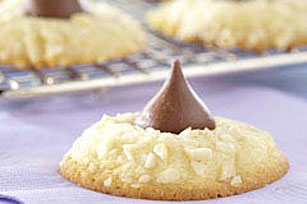 Almond Chocolate Kiss Cookies