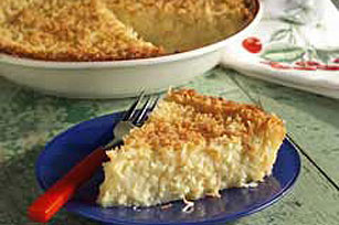 Amazing White Chocolate-Coconut Custard Pie