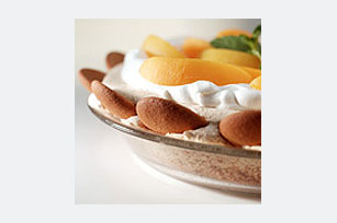 Peach-Topped Angel Pie Image 1