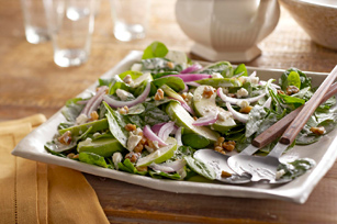 Apple-Walnut-Spinach Salad