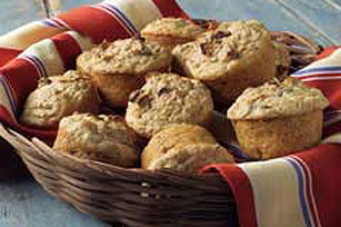 Bran and Applesauce Muffins