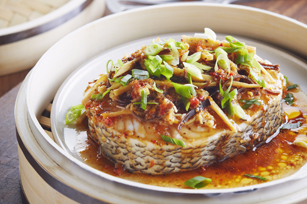 Aromatic Steamed Sea Bass Image 1