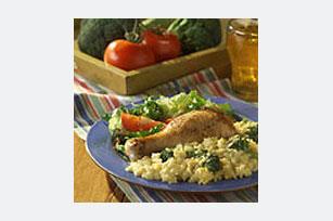 Arroz con pollo, brócoli y queso Image 1