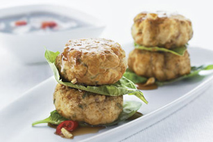 Asian-Style Chicken & Cashew Cakes Image 1