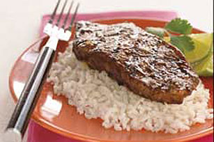 Asian Peanut-Ginger Steaks