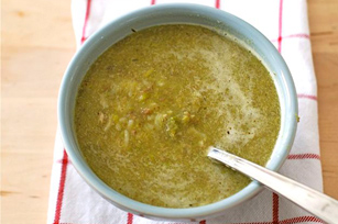 Asparagus, Mushroom & Brown Rice Soup Image 1