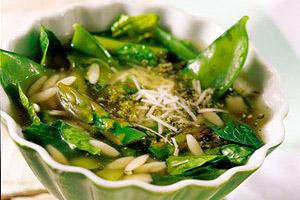 Asparagus-Orzo Soup Image 1
