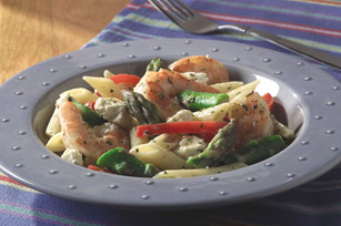 Asparagus and Shrimp with Penne Pasta