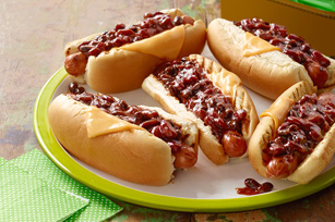 BBQ Bean Chili Dogs