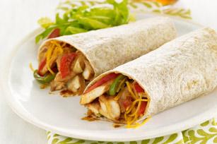 Sandwichs roulés au poulet barbecue et au cheddar
