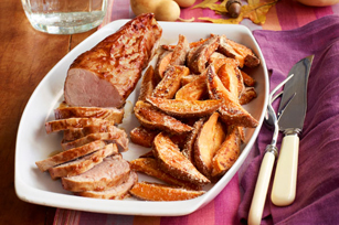 BBQ Pork Tenderloin & Sweet Potato Fries