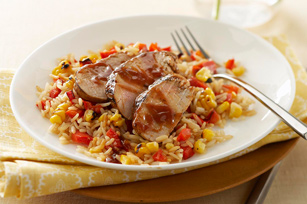 BBQ Pork Tenderloin & Vegetable Rice