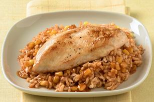 Arroz con pollo al BBQ para la cena