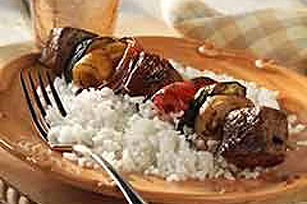 BBQ Grilled Beef Kabobs Image 1