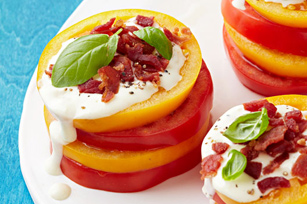 Bacon-Ranch Tomato Stacks