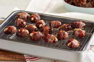 Bacon-Wrapped Feta & Almond-Stuffed Dates