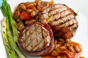 Bacon-Wrapped Pork and Beans Image 1