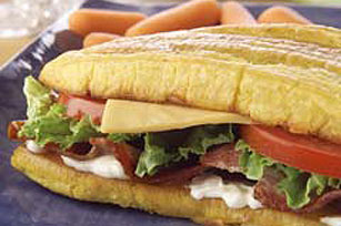 Bacon & Cheese Plantain Sandwich Image 1