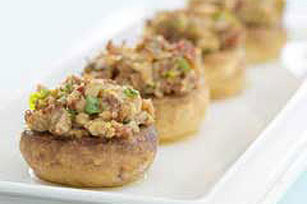 Bacon Pecan-Stuffed Mushrooms