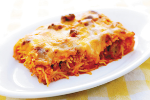 Paula Deen's Baked Spaghetti a la PHILLY Image 1