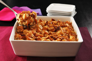 Banana-Peanut Butter & Caramel Bread Pudding