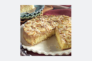 Banana Coconut Up-Side-Down Cake