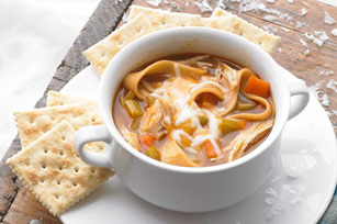 """BBQ """"Pulled"""" Chicken Soup"""