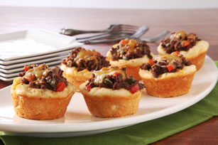 Barbecue Beef-Filled Biscuits