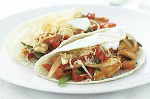 Barbecue Chicken Skillet Fajitas Image 1