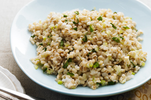 Basil & Four-Cheese Barley Pilaf