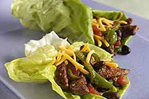 Beef and Bean Lettuce Wraps Image 1