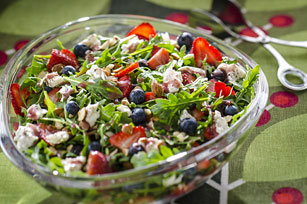 Berry & Arugula Salad with Peppery Cream Cheese