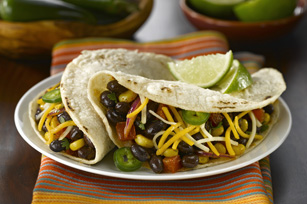 Tacos tendres aux haricots noirs Image 1
