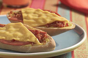 Bologna Cheesy Bread Image 1