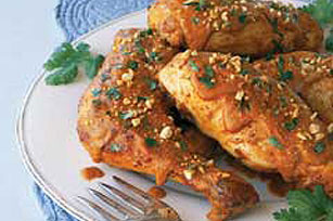 Braised Chicken in Peanut-Mole Sauce Image 1