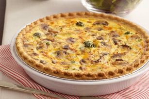 Broccoli and Cheddar Quiche Image 1
