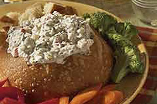 Broccoli Dip in Bread Bowl