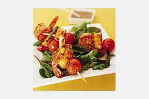 Brochetas de camarones y vegetales Image 1