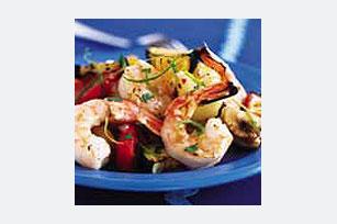 Camarones asados con vegetales  Image 1