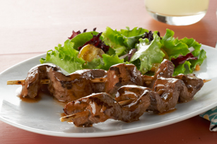 Caramelized-Beef Skewers