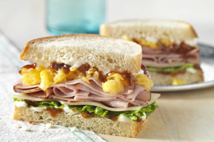 Caribbean BBQ Ham Sandwich