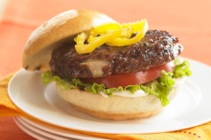 Cheese-Stuffed Italian-Style Burgers