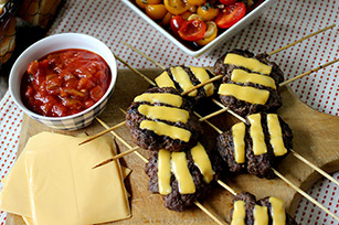 Cheeseburger Slider Skewers