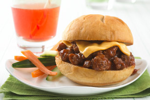 Burger au fromage sloppy joe