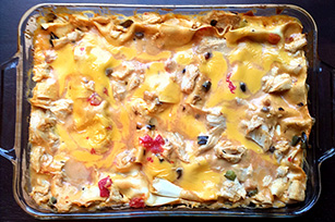 Cheesy Chicken Pasta Casserole