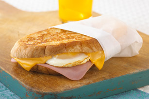 Cheesy Ham and Egg Sandwich Image 1
