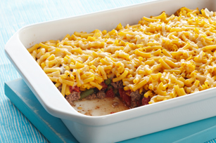 Cheesy Mac-Topped Casserole