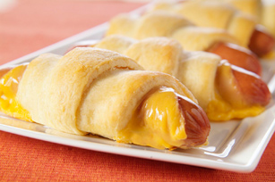 Cheesy Mummy Wrapped Dogs