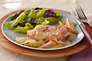 Cheesy Smothered Pork Chops